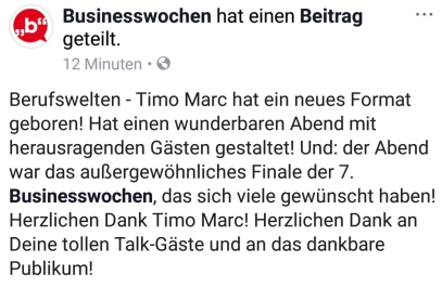"""Rückmeldung zu """"Berufswelten"""" von Timo Marc"""